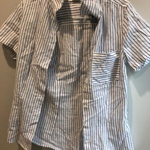 H&M striped collared shirt size xs